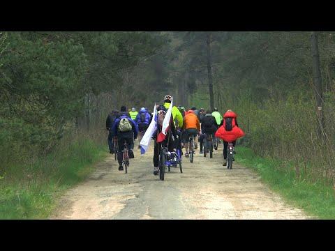Międzyrzecki rajd rowerowy na Dzień Flagi