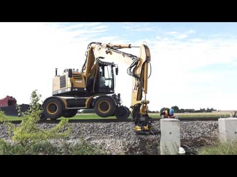 Hydrema Rail Solutions - A Rail Excavator and Dumper in Action in Sweden