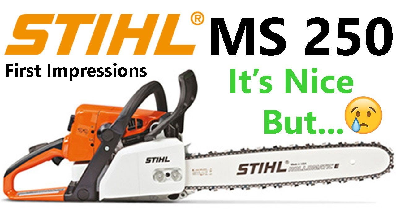 Stihl Ms250 First Impressions And