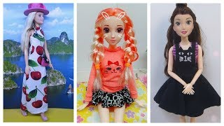 DIY clothes for dolls 👚 How to make dress for dolls