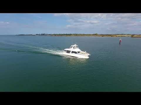 Drone Tracks Vessel From Sea Into The Port Of Bundaberg