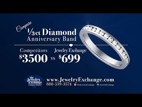 Save Over $2500 on Diamond Bands only at The Jewelry Exchange
