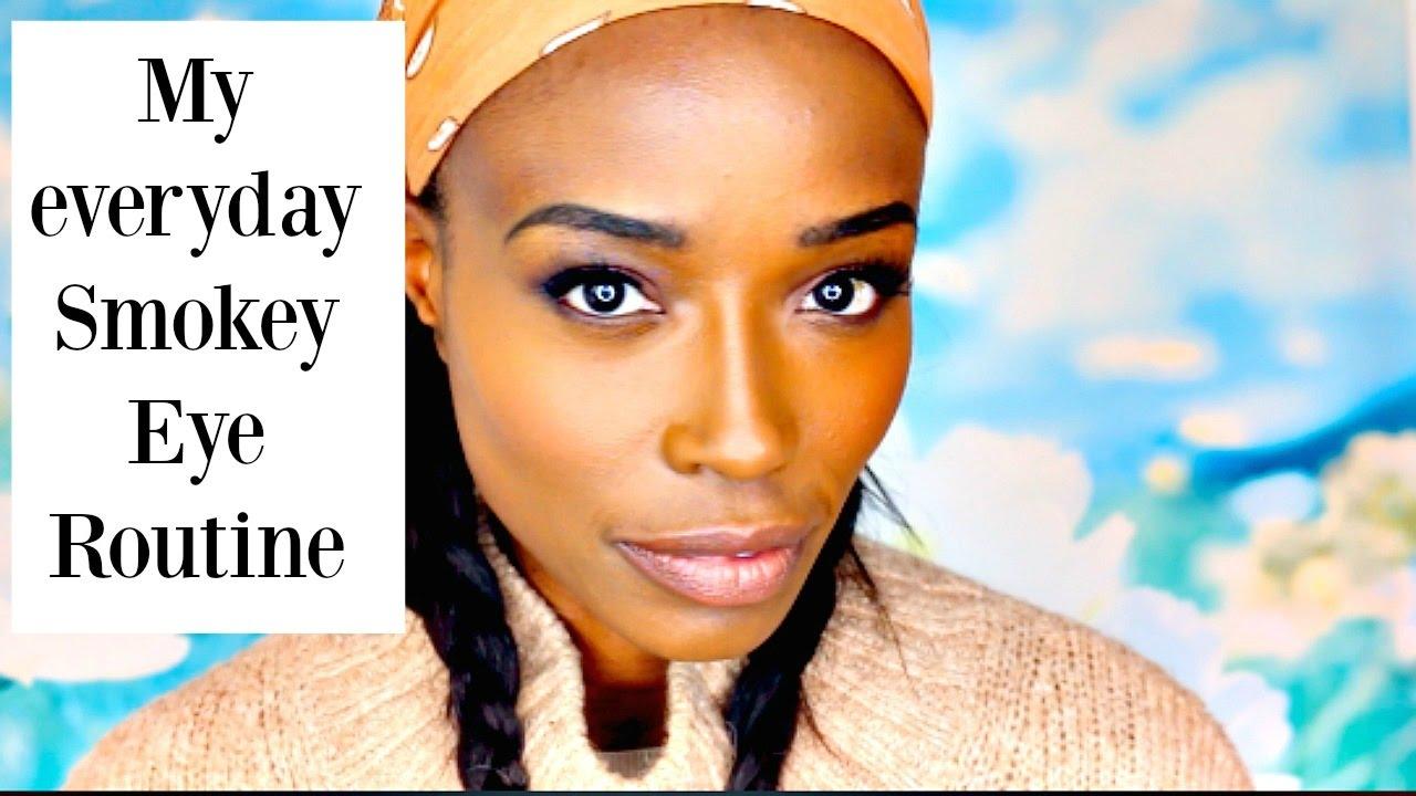 My everyday smokey eye  routine // dark skin