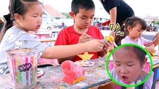 พาลูกเที่ยว แข่งระบายสีตุ๊กตาปูนปลาสเตอร์ - Toon Story