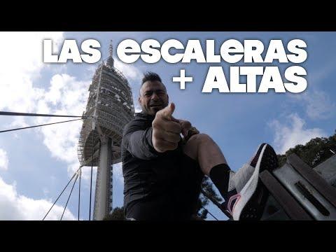 SUBIENDO LAS ESCALERAS MÁS ALTAS DE BARCELONA 🤘⚡️🐗  | Valentí Sanjuan con #UltraBoost 19