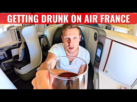 Review: AIR FRANCE 777 - ALONE IN BUSINESS CLASS AND TOO MUCH WINE!