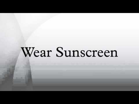 kurt vonnegut graduation speech wear sunscreen