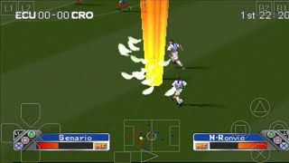 ECUADOR vs CROATIA - Super Shot Soccer - ePSXe Android Gameplay