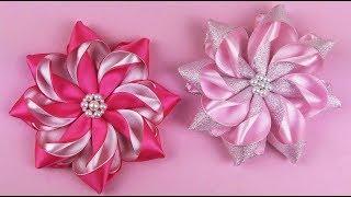 How To Make Kanzashi Flower I DIY Ribbon Flower
