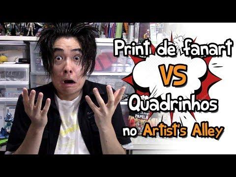 Print de Fanart VS Quadrinhos no ARTIST'S ALLEY - Debate Desenhista