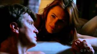 "Castle 8x07 "" The Last Seduction"" Moments Caskett - End Scene Caskett kiss and Bed#First Wedding"