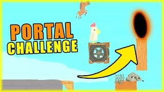 PORTAL CHALLENGE | Ultimate Chicken Horse [#107] | BLADII