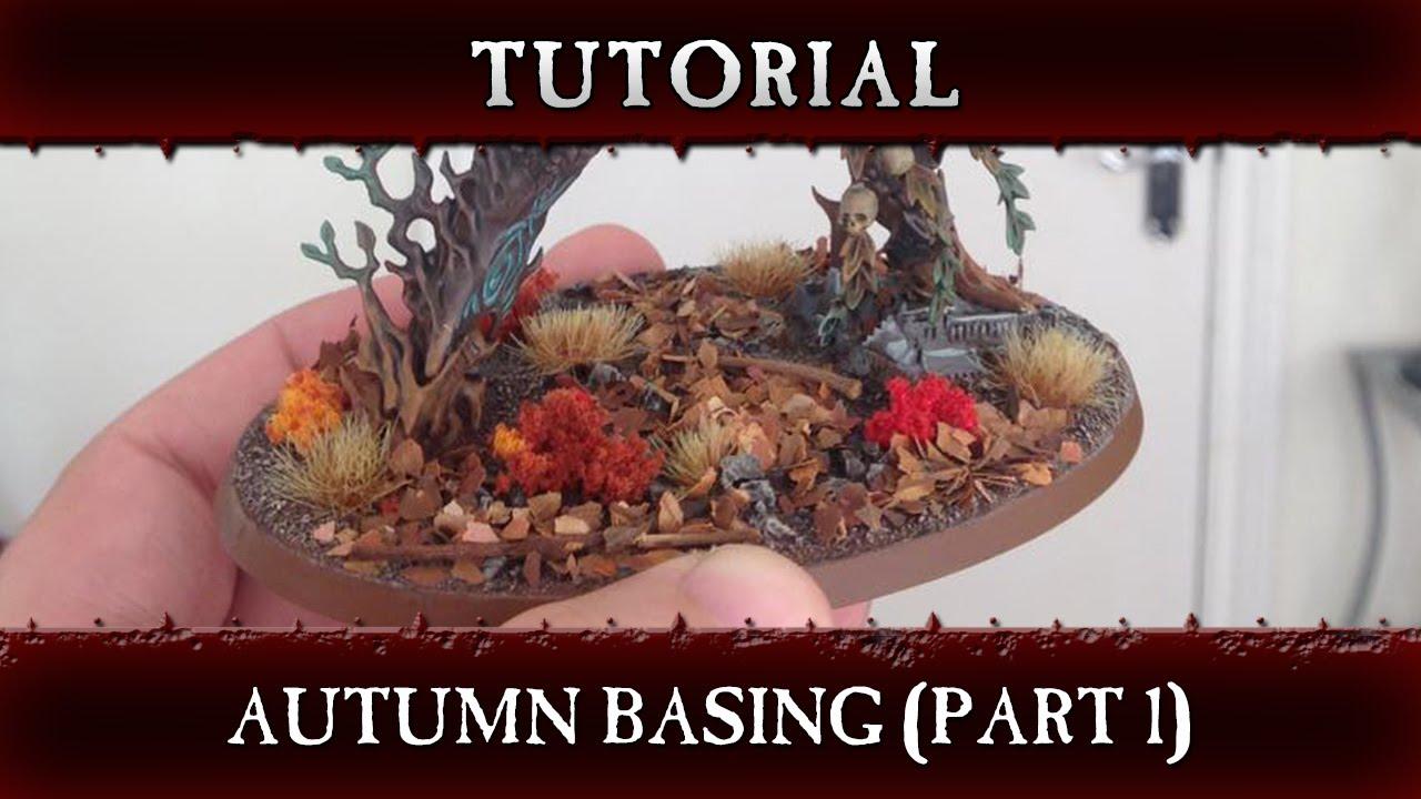 Autumn basing hobby tutorial part 1 warhammer age of sigmar.