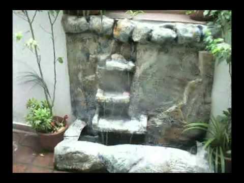 Dise o de cascadas y jardines centro de estetica youtube for Cascadas para jardin piedra
