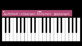 Aayirangal Parthalum Keyboard Chords And Lyrics - E Major Chord