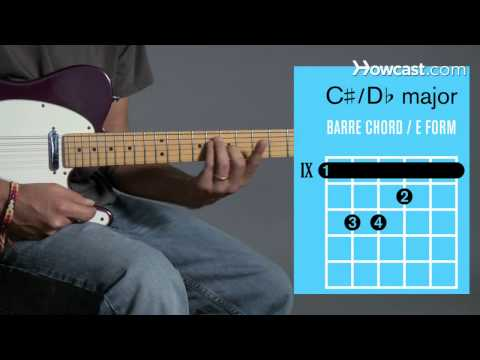 how-to-play-c-♯-/-d♭-major-barre-chord- -guitar-lessons