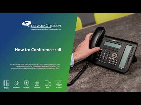 Panasonic Handset: How To Conference Call
