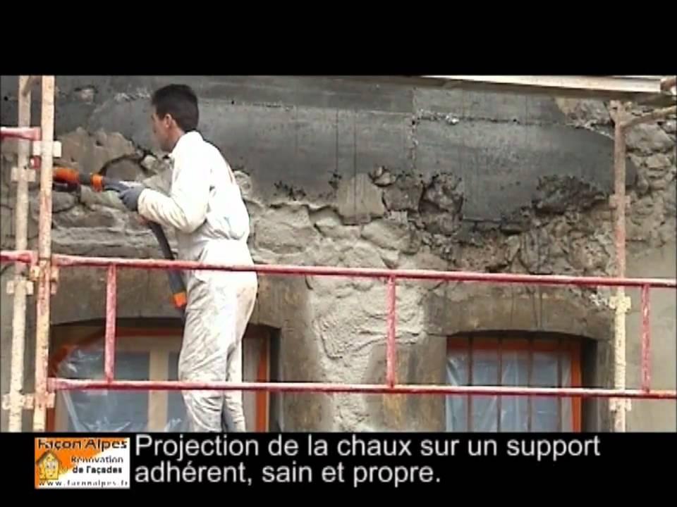 R novation de fa ades artisan fa adier youtube for Enduit imitation pierre