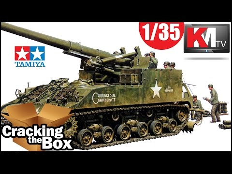 Unboxing Tamiya's New 1/35 M40 155mm SPG