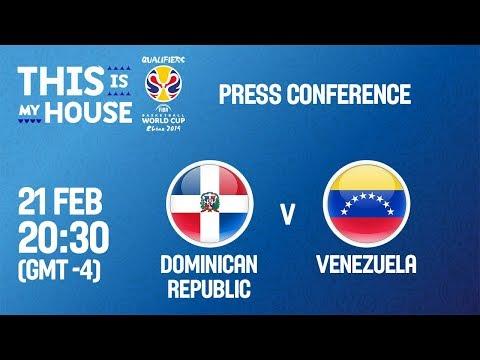 Dominican Rep v Venezuela - Press Conference