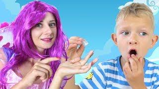 ПОДАРОК от Зубной ФЕИ !!! У Даньки ВЫПАЛ первый зубик