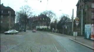 Straßenbahnfahrt in Dresden 1.
