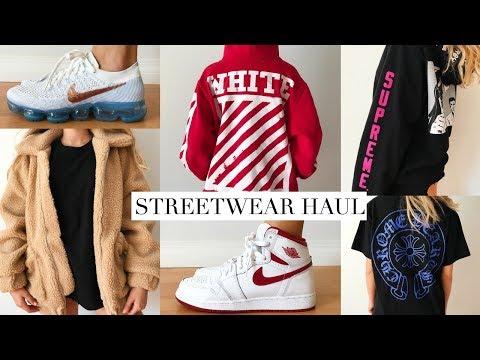 TRY-ON Streetwear HAUL! Off-White, Supreme, Jordans etc.!