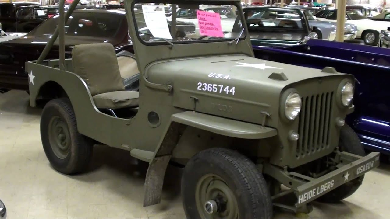 vintage willys jeep cj3b military vehicle [ 1280 x 720 Pixel ]