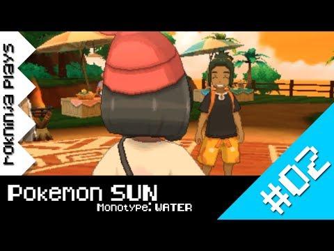 Pokemon SUN Water-Mono Run 02 - MAKING FRIENDS!
