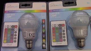 Colour Changing Light Bulb With Remote Control FIRST REVIEW
