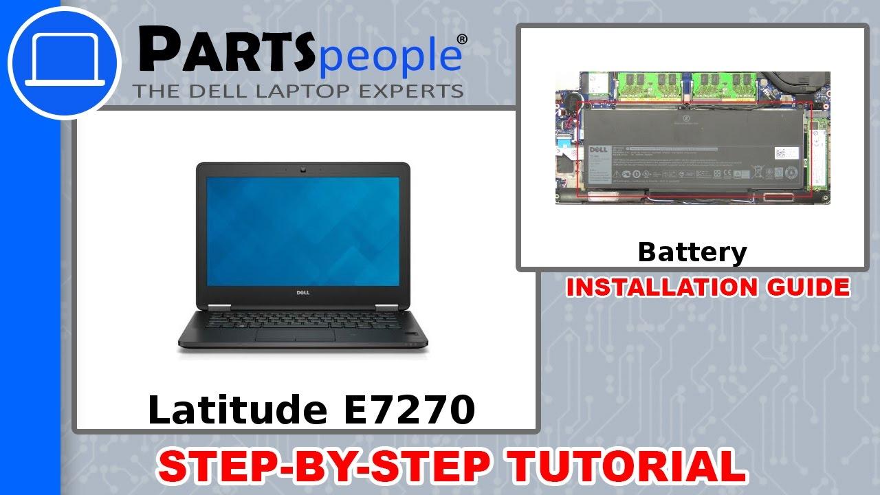 Dell Latitude E7270 (P26S001) Battery How-To Video Tutorial