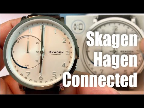 Skagen Hagen Connected white dial and black leather hybrid smartwatch review
