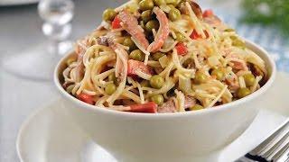 Скандинавский салат с вермишелью