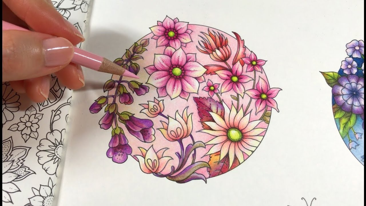 Basic Flowers Coloring Blossom 3 4 World Of Flowers By Johanna Basford