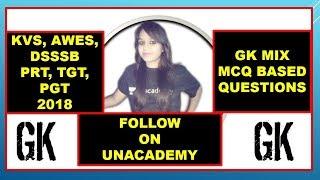 GK MCQ Best MCQ for AWES, KVS, DSSSB LIVE LESSON#17