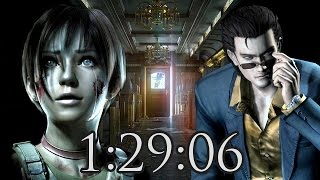 Resident Evil 0 HD Remaster Speed Run 1:29:06 PS4 1080p