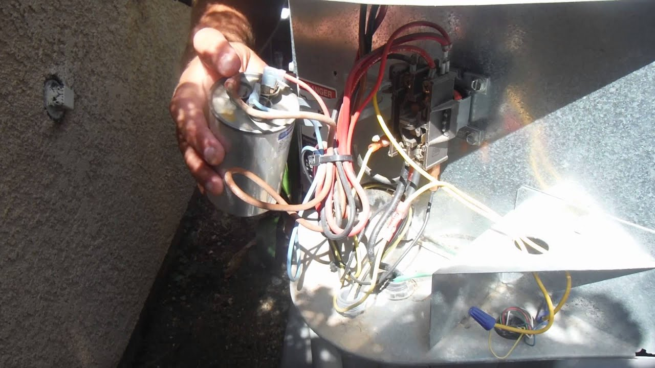 How to fix Air Conditioner Fan Buzzing or Humming (replace capacitor)