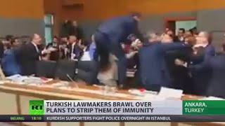 From Talk To Action: Turkish MPs brawl over plans to strip them of immunity