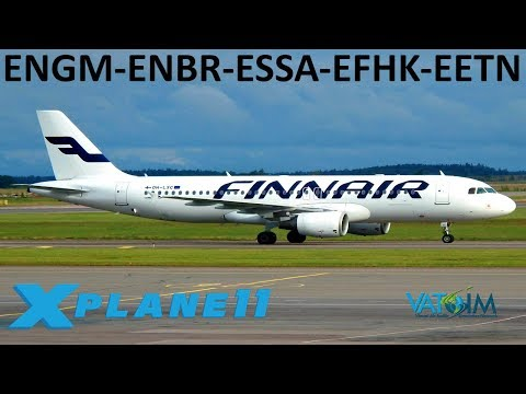 X-Plane 11 | Norway, Sweden, Finland & Estonia | Back to Europe! | B737U A320U | VATSIM |