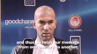Match Against Poverty 2010 Zidane Extended Interview
