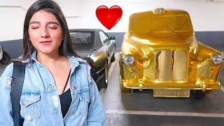 SURPRISED HER WITH A GOLD CAR *EMOTIONAL* !!!