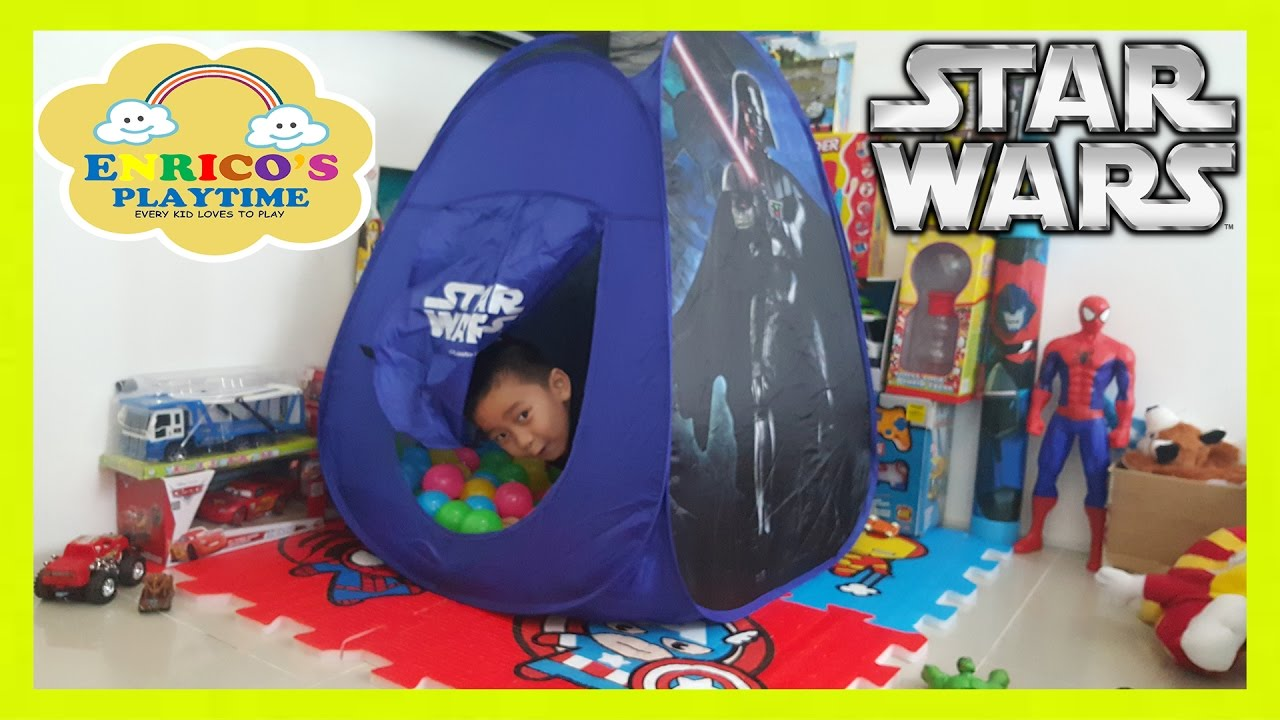 Star Wars Play Tent Colors Ball Pit for kids indoor playtime  sc 1 st  YouTube & Star Wars Play Tent Colors Ball Pit for kids indoor playtime - YouTube