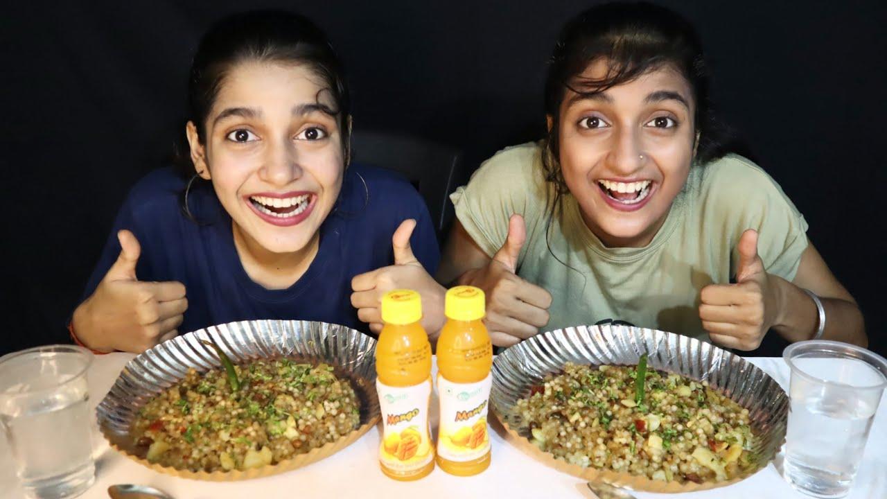 Sabudana Khichdi Eating Challenge   SABUDANA KHICHDI EATING COMPETITION   FOOD CHALLENGE