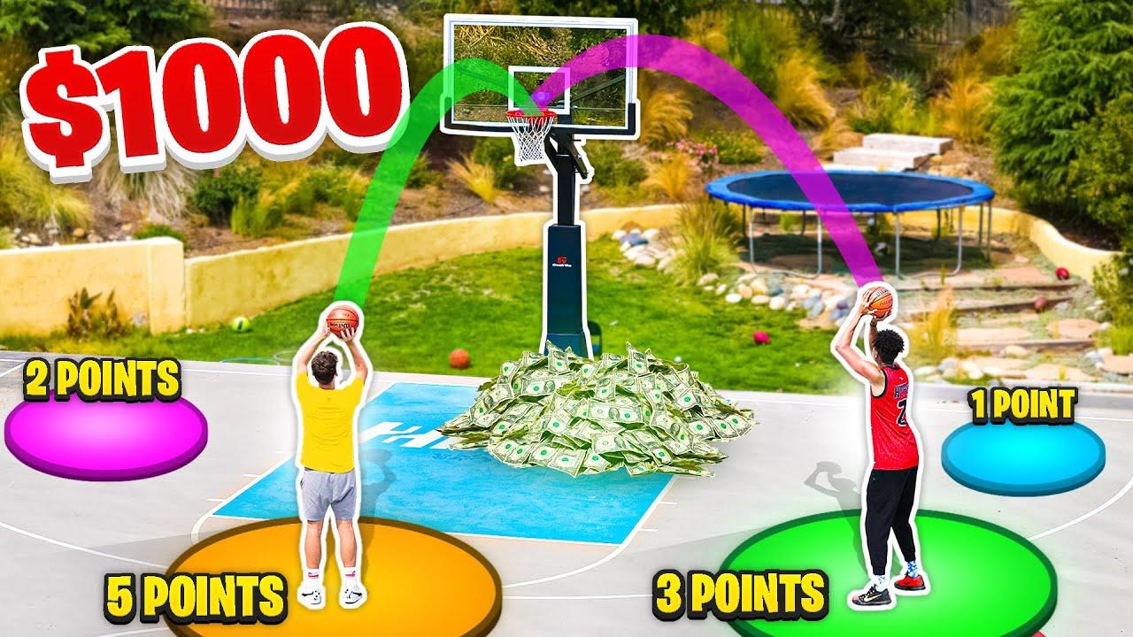 Crazy Half-Court 30 Second Basketball Challenge!