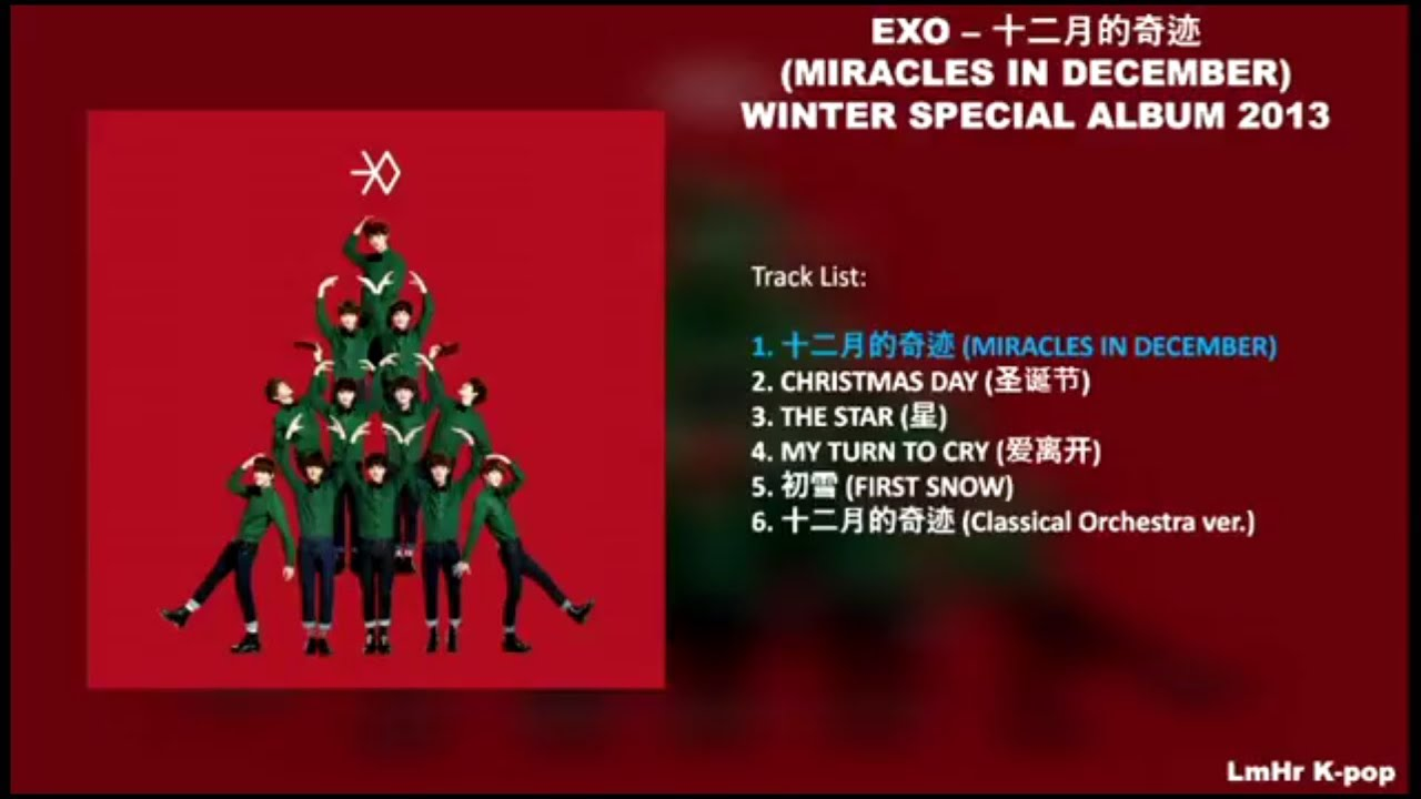Exo Christmas Album Cover.Full Album Miracles In December Exo Download