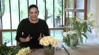 Como hacer un centro de mesa y ramo de rosas para boda