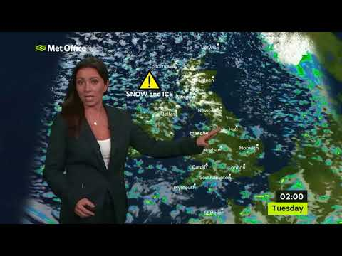 UK weather warning for snow, ice & gales