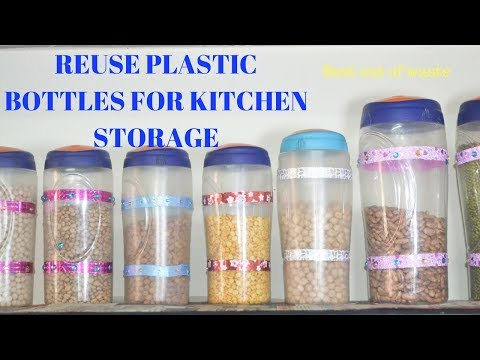 How To Use Plastic Bottles For Kitchen Storage || Best Out Of Waste