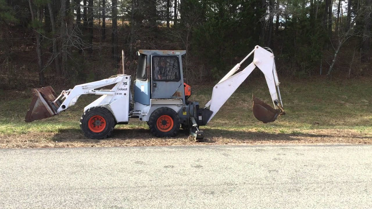 Bobcat 2410 Backhoe Operation Youtube