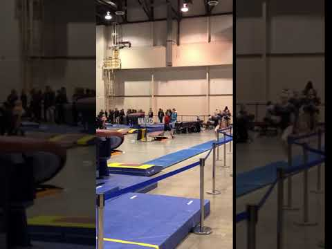 2018 - Level 8 - Region 1 Championships Apr15, 2018- Sierra K. (Gold Medal Gymnastics) - Vault #1
